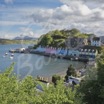 Portree Harbour, Isle of Skye Greetings Card (CB)