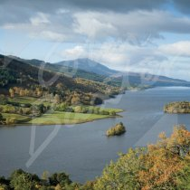 Queens View, Loch Tummel & Sch Greetings Card (CB)