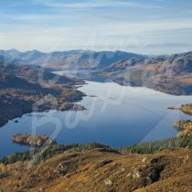 Loch Katrine, Trossachs Greetings Card (CB)