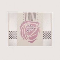 Mackintosh Wall Stencil, Hill House Classic Greetings Card