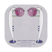 Mackintosh Cabinet Door (Lady & Rose) Coaster
