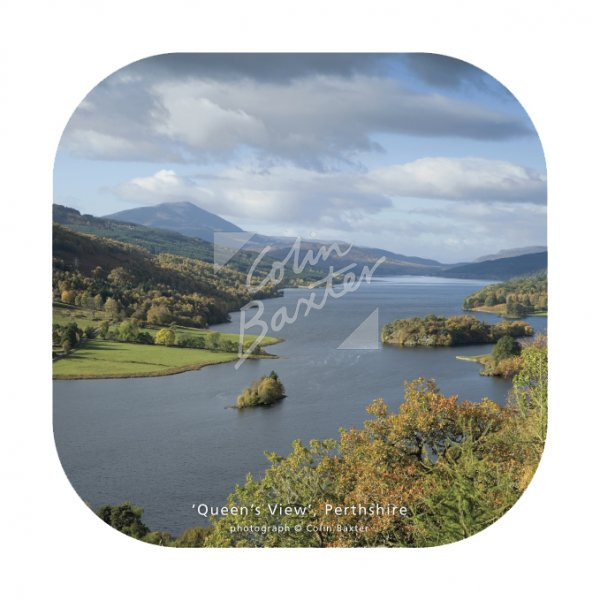 Queen's View, Perthshire Coaster