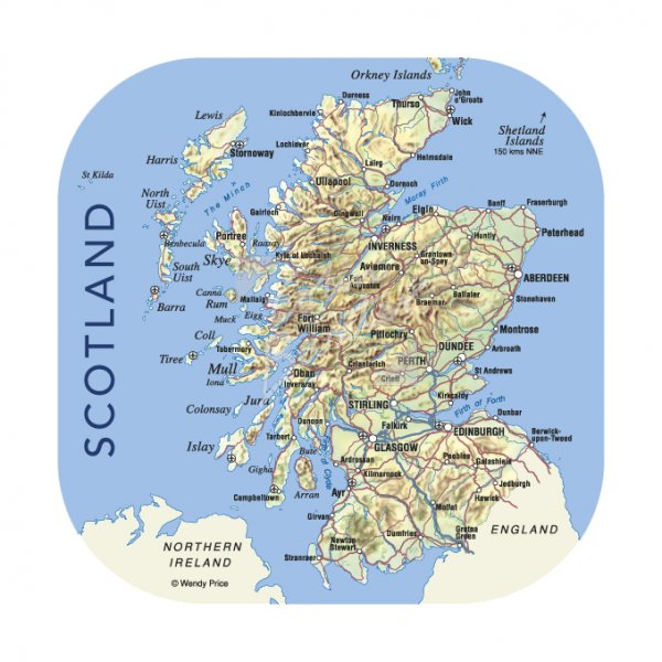 Scotland Map Coaster