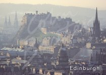 Edinburgh Castle & City Magnet (H CB)