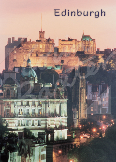 Edinburgh Castle at dusk Magnet (V CB)