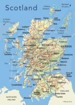 Scotland Map Magnet (V CB)