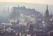 City from Salisbury Crags, Edinburgh 2 Postcard (H Std CB)