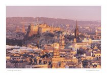 Edinburgh Catle & City Print