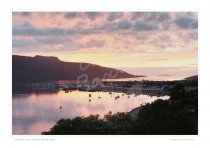 Ullapool at dusk, Wester Ross Print