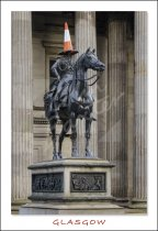 Duke of Wellington Statue, Glasgow Postcard (V Std CB)