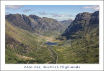 Glencoe, West Highlands Postcard (H Std CB)