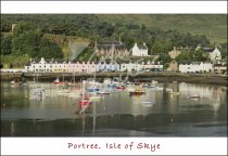 Portree Harbour, Skye Postcard (H Std CB)
