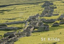 Village at St Kilda, Hebrides Postcard (H Std CB)